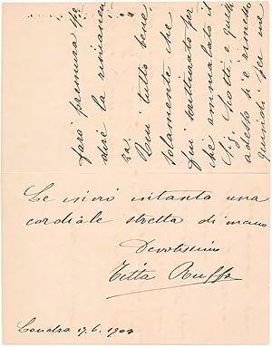 Autograph Letter Signed.: RUFFO, Titta (1877-1953).