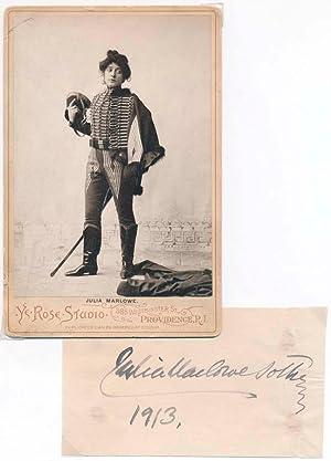 Signature / Cabinet Photograph.: MARLOWE, Julia (1866-1950).