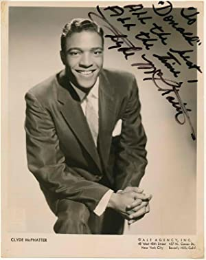Inscribed Photograph Signed.: McPHATTER, Clyde (1933-72).