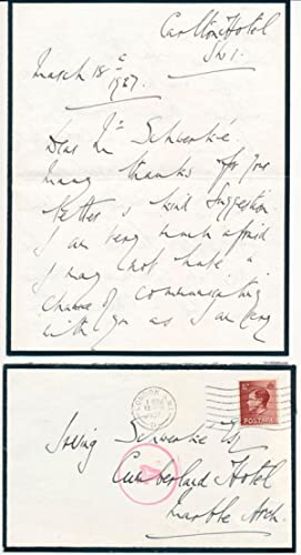 Autograph Letter Signed: BROWNLOW, William George Edward, 4th Baronet Brownlow (1902-84)
