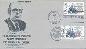 Signed First Day Cover.: SLANIA, Czeslaw (1921-2005).