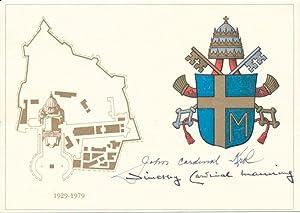 Signed Postal Card: MANNING, Timothy (1909-89), and KROL, John (1910-96)