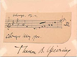 Autograph Musical Quotation Signed.: SPIERING, Thomas B. (1871-1925).