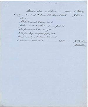 Autograph Document Signed.: WELLES, Gideon (1802-78).