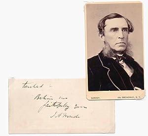 Autograph Letter Signed / Carte-de-visite.: FROUDE, James Anthony (1818-94).
