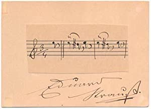 Autograph Musical Quotation Signed: STRAUSS, Eduard (1835-1916)