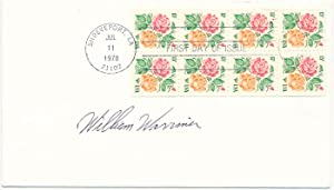 Signed First Day Cover: WARRINER, William (?-?)