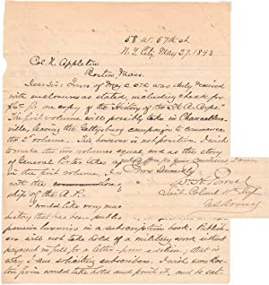 Autograph Letter Signed.: POWELL, William Henry (1838-1901; some sources cite 1825-1904).