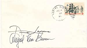 Signed Postal Cover.: LANDERS, Ann (1918-2002) and VAN BUREN, Abigail (born 1918).