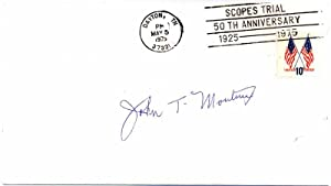Signed Postal Cover / Autograph Note Signed.: MOUTOUX, John T. (?-?).
