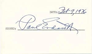 Signature: ENDACOTT, Paul (1902-97)