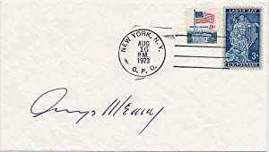 Signed Postal Cover / Unsigned Photograph.: MEANY, George (1894-1980).