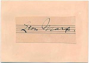 Signature.: MARX, Leon (1875-1935).