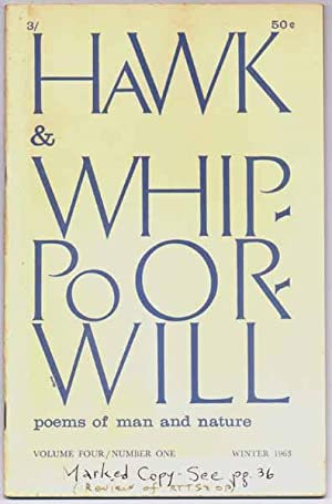 Hawk & Whippoorwill: Winter 1963 (Volume Four, Number One): DERLETH, August (editor)