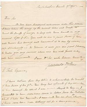 Autograph Letter Signed.: COLDEN, Cadwallader D. (1769-1834).