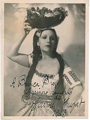 Inscribed Photograph Signed.: CUGAT, Carmen (1900-66).
