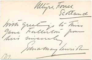 Signature and Inscription.: LEWISOHN, Edna May (1878-1948).