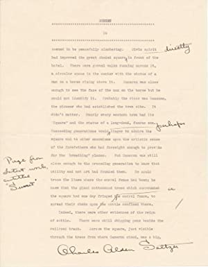 Typed Manuscript Signed.: SELTZER, Charles Alden (1875-1942).