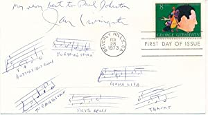 Autograph Musical Quotation Signed: LIVINGSTON, Jay (1915-2001)