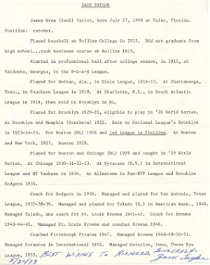 Typed Document Signed.: TAYLOR, James W.