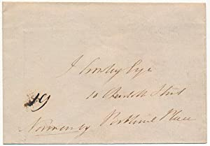 Free-Franked Envelope: PHIPPS, Constantine Henry (First Marquess of Normanby) (1797-1863)