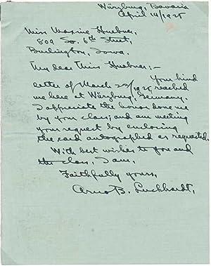 Autograph Letter Signed.: LUCKHARDT, Arno B. (1885-1957).
