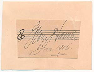 Signature.: HAMLIN, George (1869-1923).