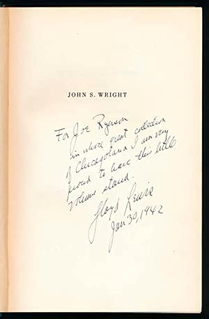 John S. Wright: Prophet of the Prairies.: LEWIS, Lloyd.