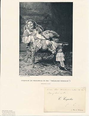 Signed (initials) Calling Card.: COQUELIN, Benoit-Constant (1841-1909).