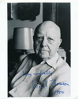 Inscribed Photograph Signed: THOMSON, Virgil (1896-1989)