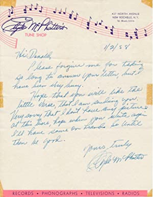 Autograph Letter Signed: McPHATTER, Clyde (1933-72)