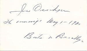 Signature and Inscription.: OESCHGER, Joe (1891-1986).