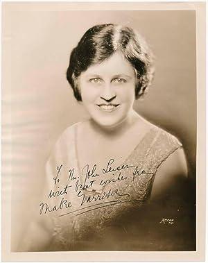Inscribed Photograph Signed.: GARRISON, Mabel (1886-1963).
