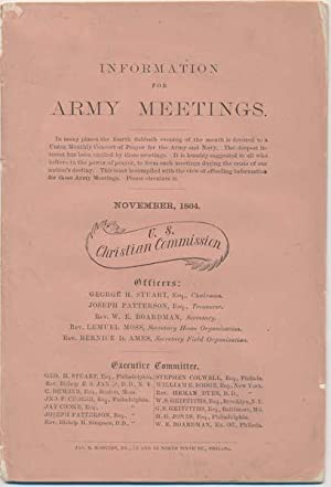 Information for Army Meetings: November, 1864.