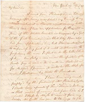 Autograph Letter Signed.: HALL, Fitch (1759-1841).