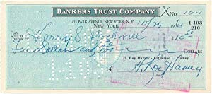 Autograph Document Signed: HAMEY, H. Ray (1902-91)