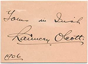 Signature and Inscription.: OLCOTT, Chauncey (1860-1932).
