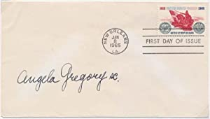 Signed First Day Cover / Autograph Note Signed.: GREGORY, Angela (1903-90).