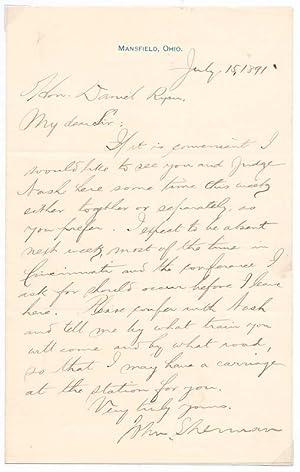 Autograph Letter Signed: SHERMAN, John (1823-1900)
