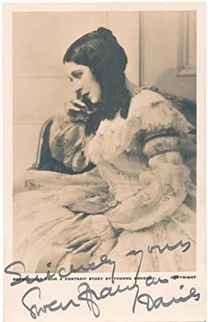 Photograph Signed.: FFRANGCON-DAVIES, Gwen (1891-1992).