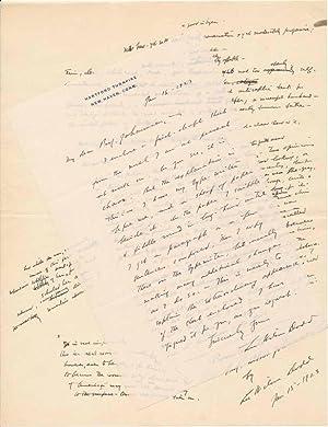 Autograph Letter Signed / Autograph Manuscript Signed: DODD, Lee Wilson (1879-1933)