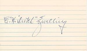 Signature.: ZWILLING, Edward H.