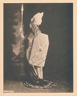 Inscribed Photograph Signed: VAN GORDON, Cyrena (1893-?)