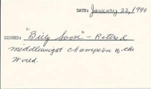 Signature and Inscription: SOOSE, Billy (1915-98)