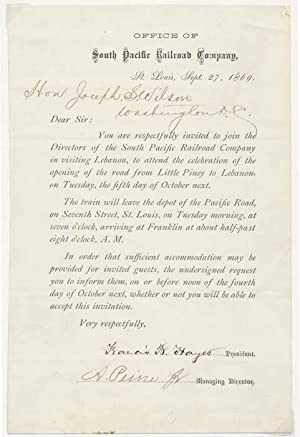 Document Signed.: SOUTH PACIFIC RAILROAD COMPANY)
