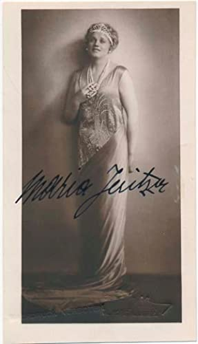 Photograph Signed.: JERITZA, Maria (1887-1984).