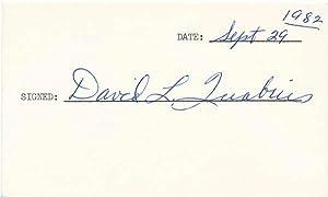 Signature.: QUABIUS, David L. (1916-83).