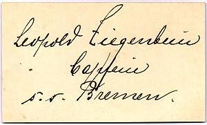 Signature and Rank: ZIEGENBEIN, Leopold (1874-1950)
