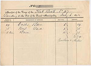 Partly-Printed Autograph Document.: NEW ORLEANS -- CARGO MANIFEST).
