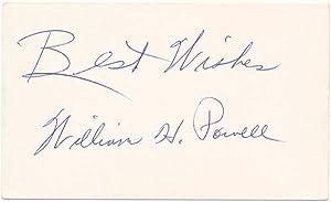 Inscription and Signature.: POWELL, William H.